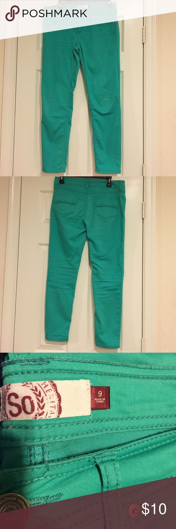 So Jean mint green pants Juniors size 9 SO Pants Ankle & Cropped