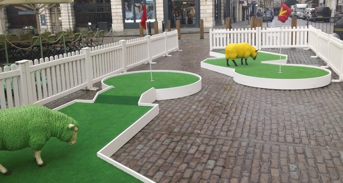 Lyle and Scott Woolly Golf in Covent Garden