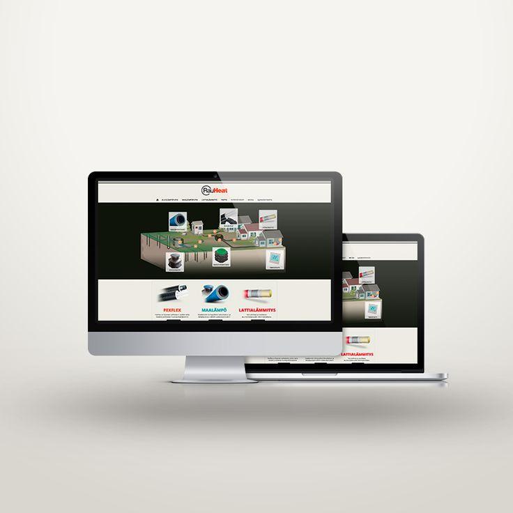 Verkkosivusto, Non-responsive website, RauHeat Oy
