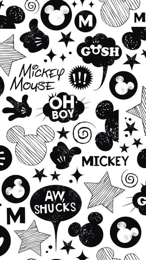 Imagem de wallpaper, mickey, and mickey mouse
