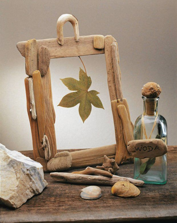 picture frame made of driftwood pieces driftwood