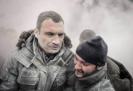 Vitali Klitschko joins Kiev protests in theUkraine