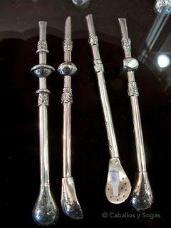 Caballos y sogas: Platería Lozada, bombillas de plata