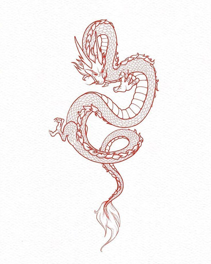 Chinese Dragon Tattoo Chinese Dragon Tattoo Chinesisches Drachentattoo Arrowtattoo Chi In 2020 Small Dragon Tattoos Chinese Dragon Tattoos Red Dragon Tattoo