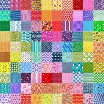 10x10 Fabric Quilt Puzzle