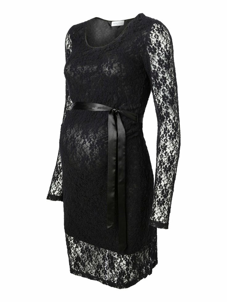 Maternity Dresses For Special Occasions | Special Occasion Christmas Party Maternity Dress Black Lace