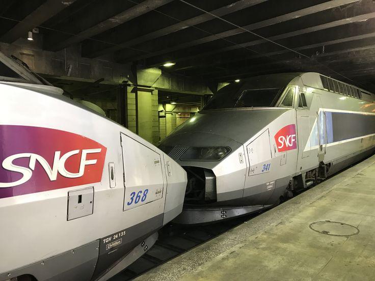 SNCF train at Gare Montparnasse.
