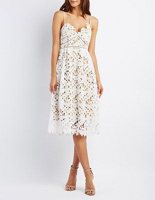 Strappy Crochet A-Line Dress: Charlotte Russe