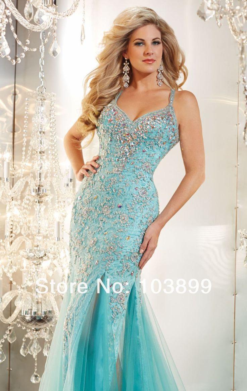 nieuwe ontwerp turquoise blauwe veer liefje tule kant met kristallen lange zeemeermin prom jurken met riemen 2015 in nieuwe ontwerp turquoise blauwe veer liefje tule kant met kristallen lange zeemeermin prom jurken met riemen 2015S van prom dresses op AliExpress.com | Alibaba Groep