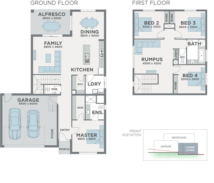 Contemporary Designed House Floorplan Photo - Panorama by Esperance Homes