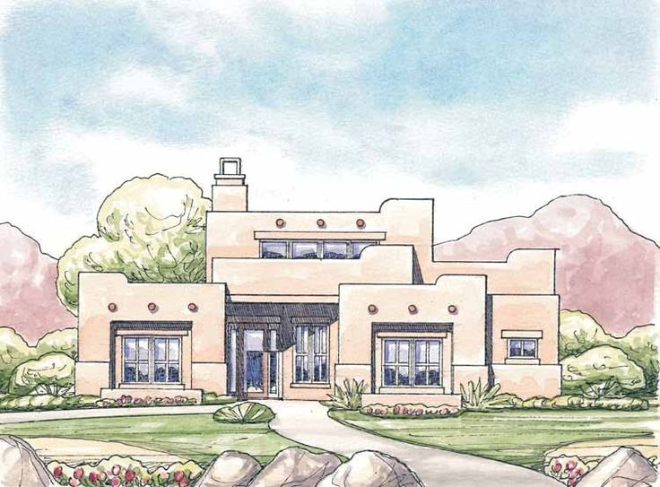 10 best pueblo adobe images on pinterest haciendas for Pueblo house plans