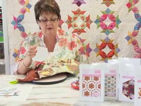 Ep 4 Sue Daley's Shape Up English Paper Piecing - How to use different shapes to create a hexagon.
