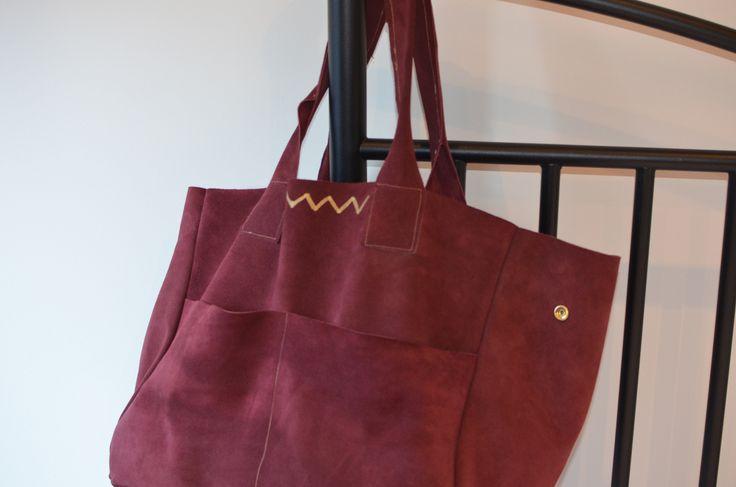 Tuto pour coudre un sac en cuir Vadimlike, inspiration Sézane..