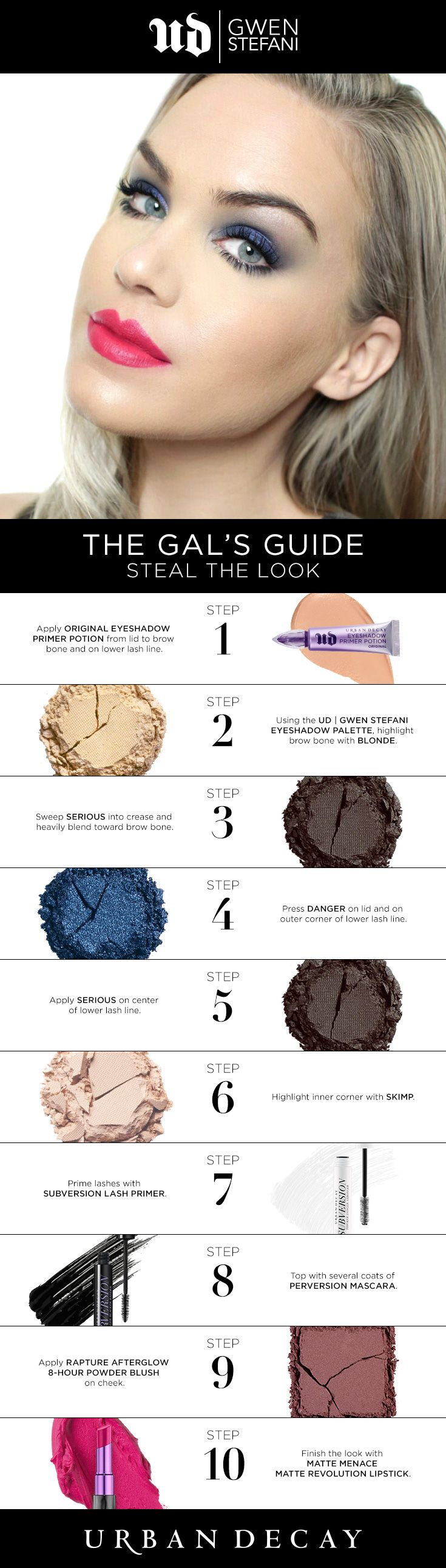 Fan of The Gals Guide? Steal her UD look with the 10 easy steps below. #UrbanDecay