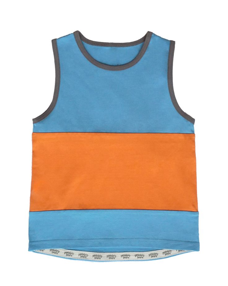 Colour-blocked Dock Time Tank | Boys Summer Collection | www.peekaboobeans.com
