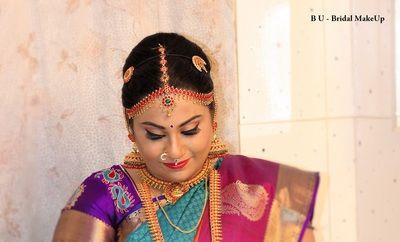 B U Bridal Makeup In Chennai, Makeup Artist, Hair Stylist