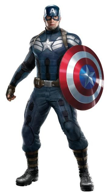 New Captain America costume for Winter Soldier movie.