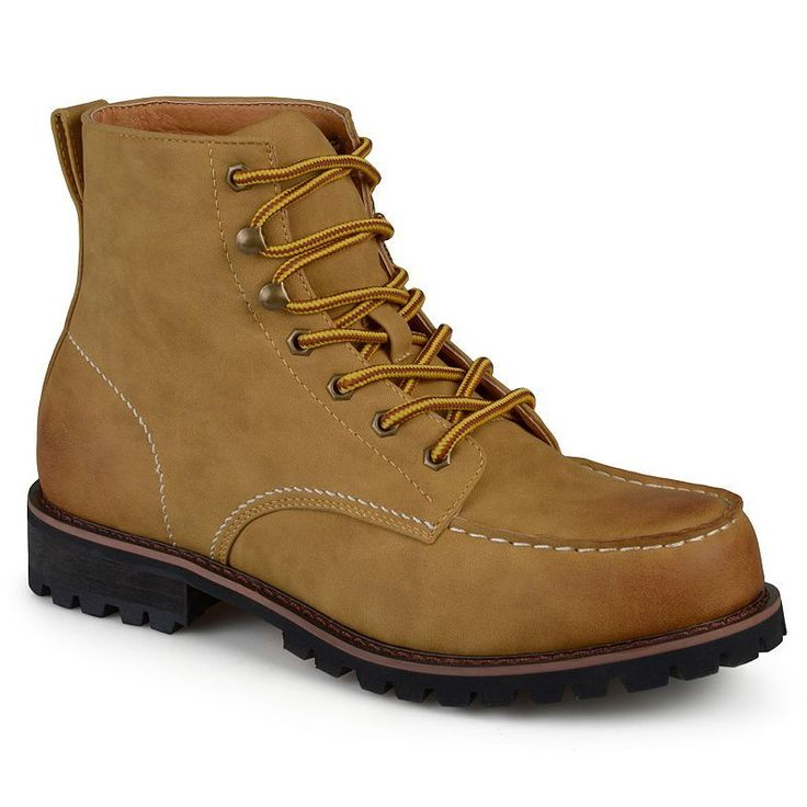 Vance Co. Carson Men's Work Boots, Size: medium (10.5), Beig/Green (Beig/Khaki)