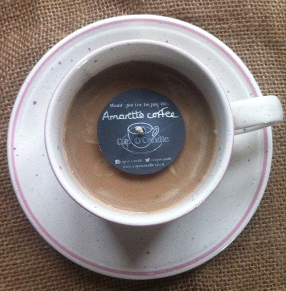 Cup o' Candle  amaretto coffee scented by Yorkshirecupocandle
