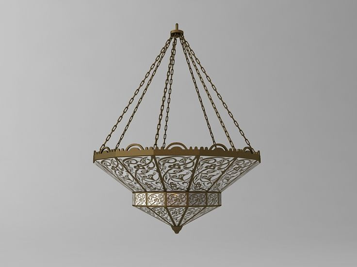 Arabian Chandelier 3D Model- Qualitative 3d model of the arabian chandelier.  High quality model to add more details and realism to your interior rendering projects.  Detailed enough for close-up renders.  Originally modelled in 3ds max 2009. Final images rendered with vray 1.50 Sp2. - #3D_model #Lamp