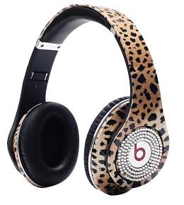 www.beatsbydre-headphonesshop.com  Monster Headphones Beats By Dr Dre Studio High Performance Leopard grain With White Diamond.png
