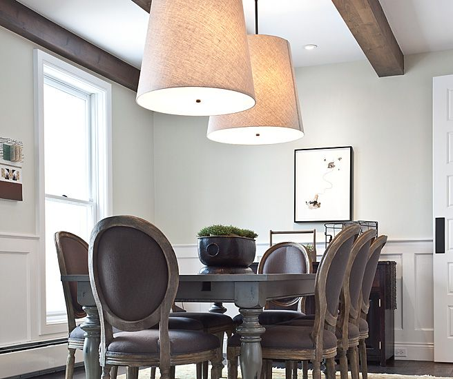 Jaffa Group Dining Rooms Restoration Hardware Barrel Shade Pendant Round Back Chairs Purple Cha