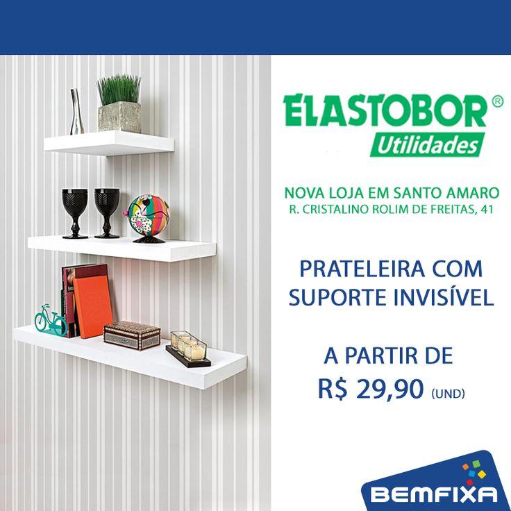 Confira nossas prateleiras e aproveite os preços especiais de inauguração na loja Elastobor em Santo Amaro!