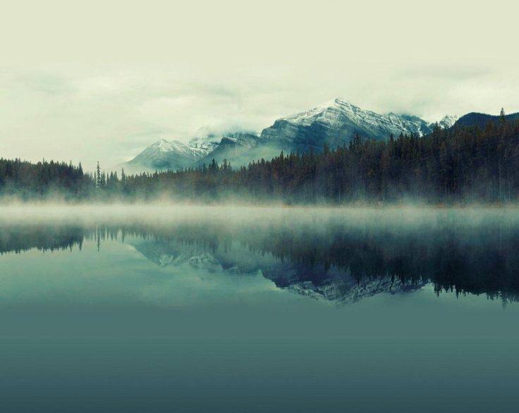 Mystical Mountain Cloudy Peaks