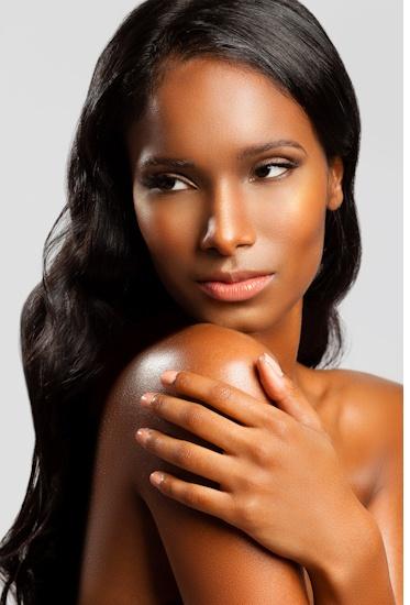Clean, natural beauty makeup. Dewy skin.