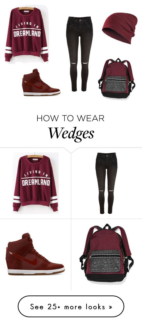 """Untitled #93"" by prettypinkmingo on Polyvore featuring River Island, Victoria's Secret and NIKE"