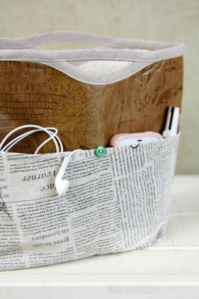 Tasca interna in borsa / bag borsa / sacchetto dell'organizzatore / inserto.  Fai da te tutorial in immagini.