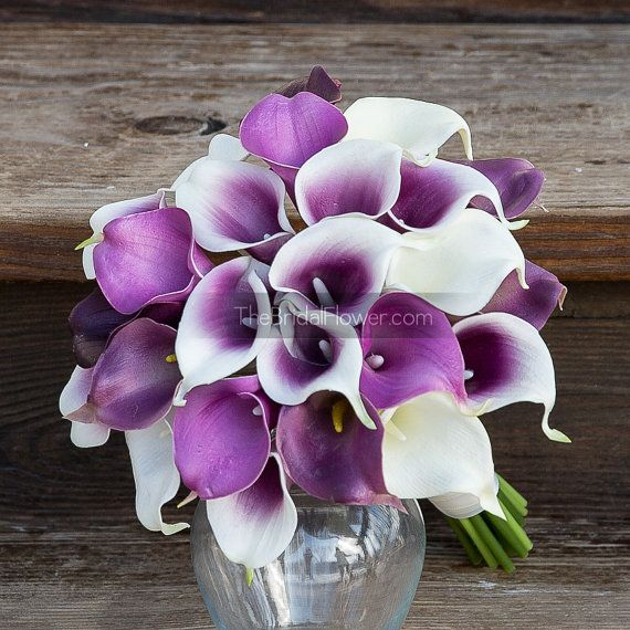 Hey, I found this really awesome Etsy listing at https://www.etsy.com/listing/225111003/light-purple-calla-lily-bouquet-white
