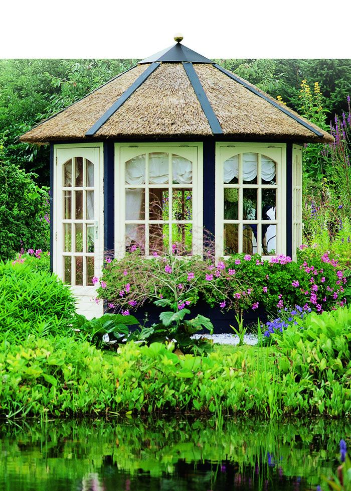 My 'Summer House'...this would be my garden getaway for reading and napping!  LOL!!