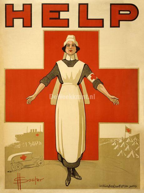 ♥Historische Rode Kruis-affiche
