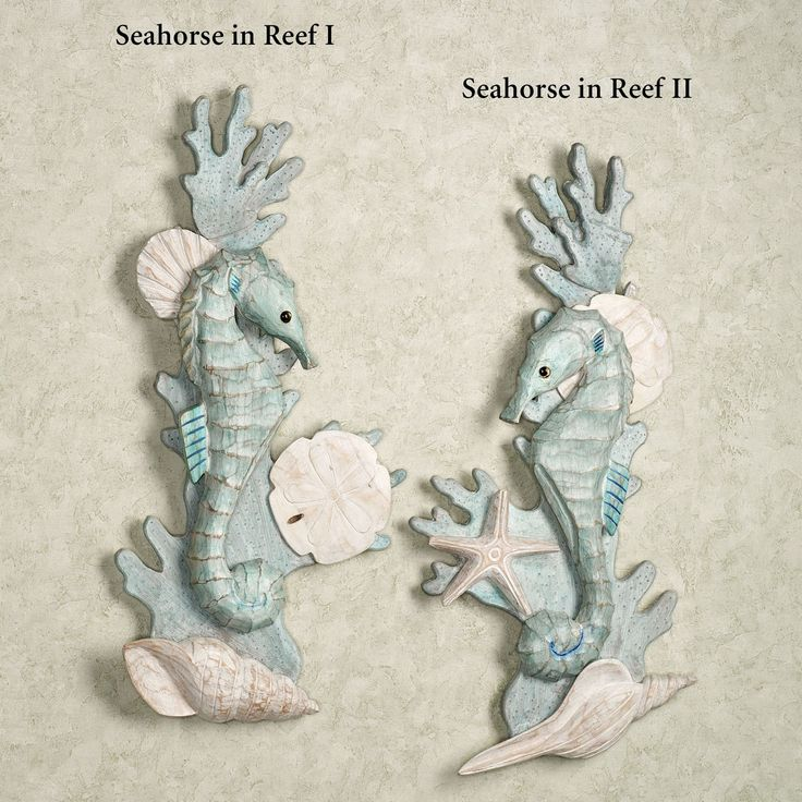 Seahorses In Reef Wooden Wall Art