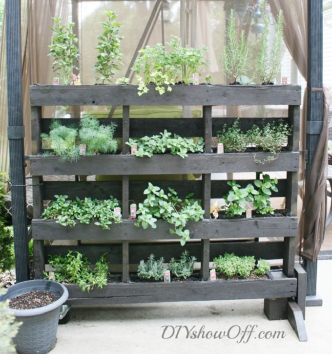 Free Standing Pallet Herb Garden. Be Certain Your Pallet