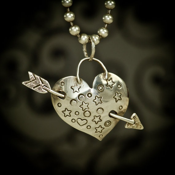 Tattoo Heart by bamtastic on Etsy, $325.00 Love this rock n roll silver heart.