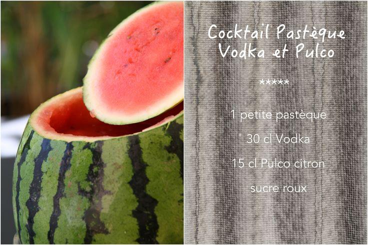 Cocktail pasteque vodka - Bonus : faire un trou dans le pastèque et utiliser un robinet ;-)