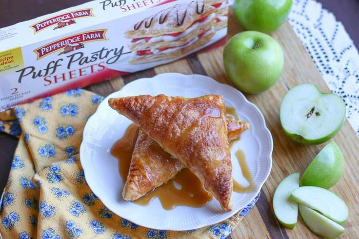 Who doesn't love caramel and apples? Add them to the inside of a flaky crust and you have a sweet masterpiece! These Caramel Apple Turnovers are easy to make and absolutely delicious. They make the perfect treat for your friends and family. #ad