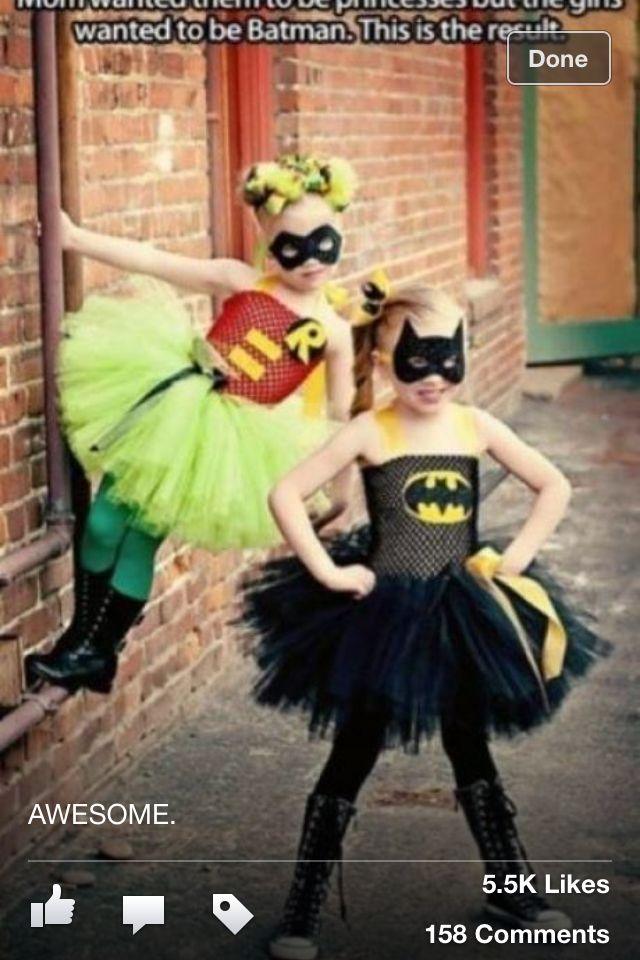 "Superhero costumes for girls, but with tanks under that crap they're trying to pass off as ""shirts"""