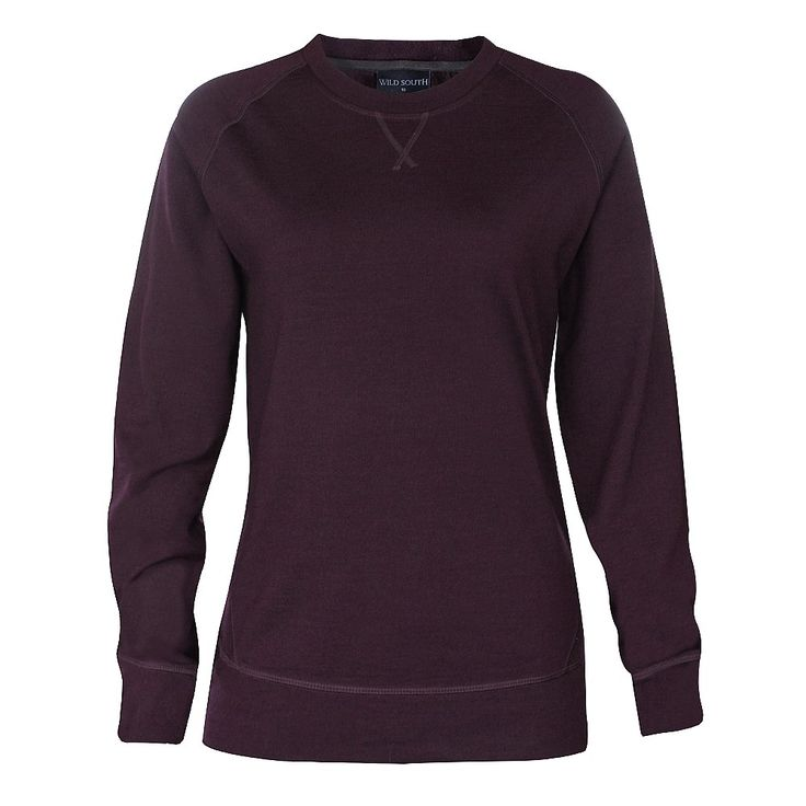 Merino Crew / This classic women's sweatshirt style features a crew neck with a cover seam cross in the front and raglan sleeve.