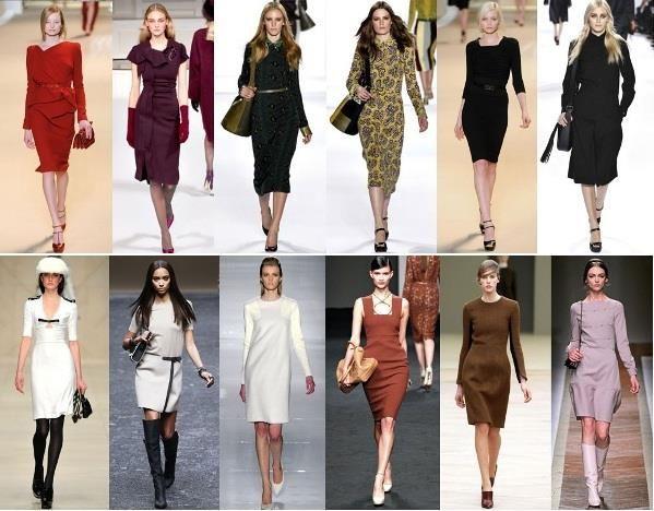Офисная мода платье