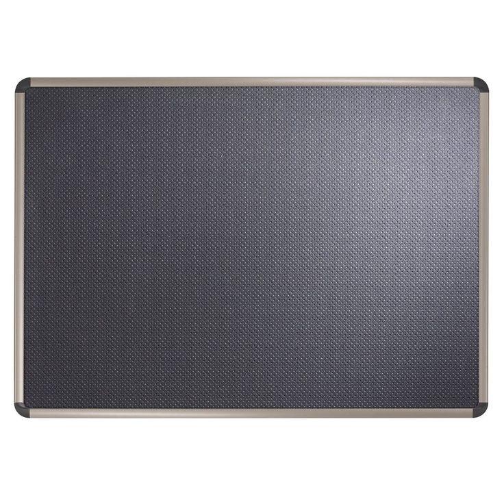 Quartet Prestige Euro Black Embossed Foam Bulletin Board 18 x 24 Inches Alumi... #Quartet