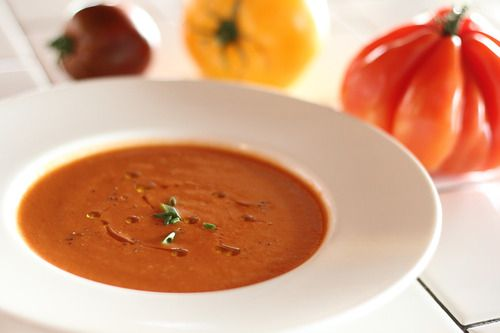 Chilled Heirloom Tomato Soup | ...CHOWDERS, SOUPS & STEWS | Pinterest