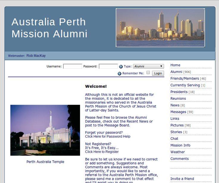Perth LDS Missionary alumni website.
