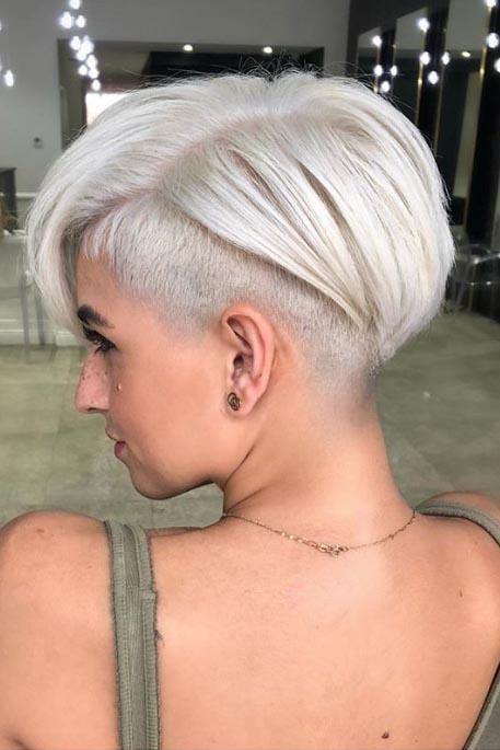 15 Most Flattering Haircuts for Women with Thin Hair | Ready to make a statement? Pick an undercut crop. We suggest this razor-sharp style for thin-haired ladies who already know how to rock a short cut with confidence. Part your hair deeply on one side for added fullness. #beautytips #southernliving #hair #hairstyle