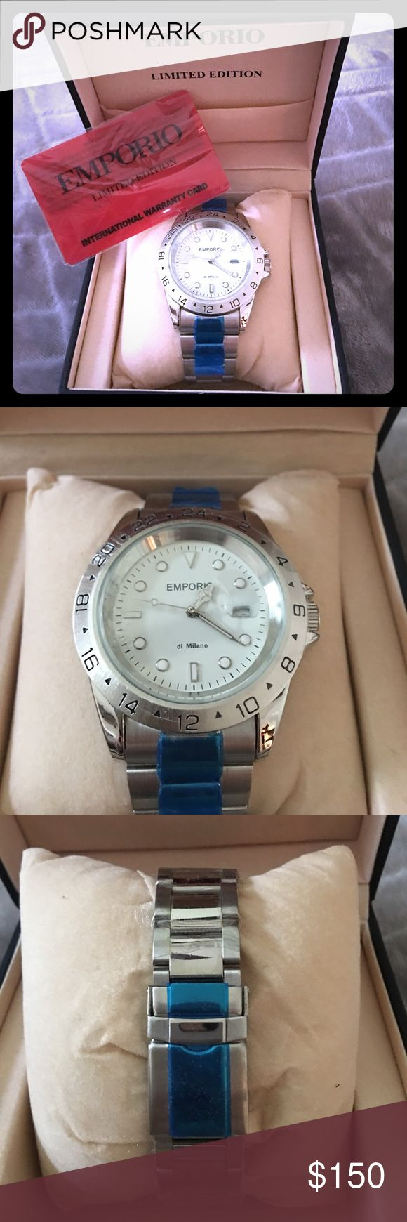 Armani Emporio Limited Edition Watch Limited Edition Men's Armani Emporio Silver  Watch Brand New in box never used. Emporio Armani Accessories Watches