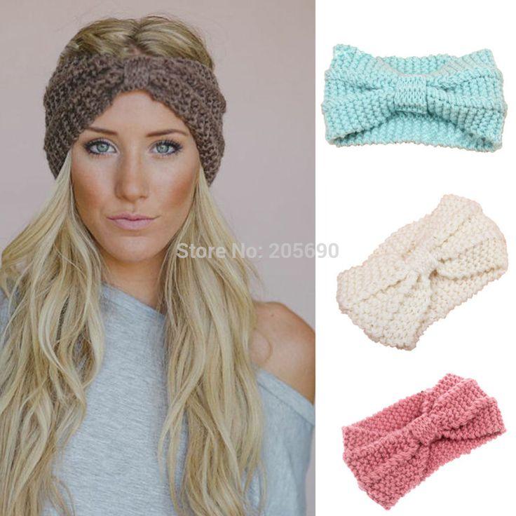 2015 nuevas mujeres de punto de ganchillo Hairband diadema calentador del  oído de Headwrap turbante arco
