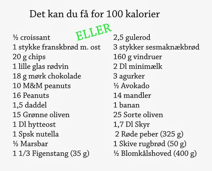 Mad på 4 sal: 0-100 Kcal Opskrifter