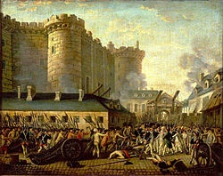 July 14, 1789 - after a long period of simmering tensions, a mob storms a French prison known as the Bastille. Although only seven prisoners are freed, the event is considered the first major action of the French Revolution.
